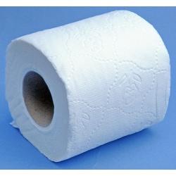Lot de 80 rouleaux de papier toilette gaufré blanc double épaisseur