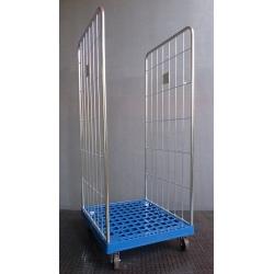 Rool acier zingué standard 2 côtés base plastique 400 kg