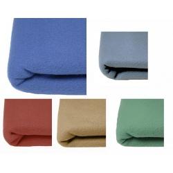 Lot de 10 couvertures polaires unies 350 gr 240x260 cm