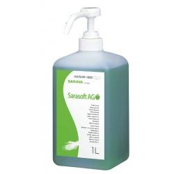 Savon mousse main et corps Pomme Verte en bouteille 1 L Sarasoft A (le lot de 12)