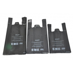 Sacs bretelles BD noir 30+16x65 (Le carton de 500)
