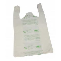 Sacs bretelles biodégradables blanc 26x12x45 (Le carton de 2000)