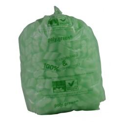 Sacs type 40L lien coulissant vert biodégradable 500x650 (le carton de 250)