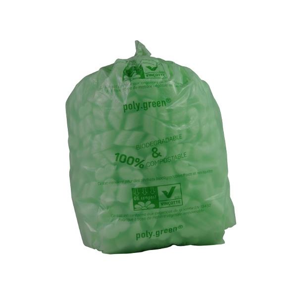Sacs type 60L soudure étoile vert biodégradable 680x820 (le carton de 250)