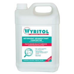 Lot de 4 detergents desinfectant concentre Wyritol professionnel 5 L