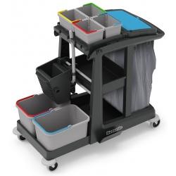 Chariot de lavage Eco-Matic 3 avec collecteur 120L presse et 6 seaux (4x5 et 2x17L)