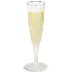 Carton de 10 paquets de 10 flutes à champagne cristal 13 cl
