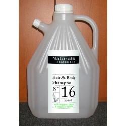 Lot de 4 recharges shampooing corps et cheveux Naturals Remedies 3L