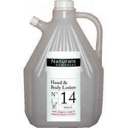 Lot de 4 recharges lotion corps et mains Naturals Remedies 3L