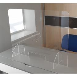 Lot de 5 écrans de protection avec trappe et trous L 65 x H 65 cm
