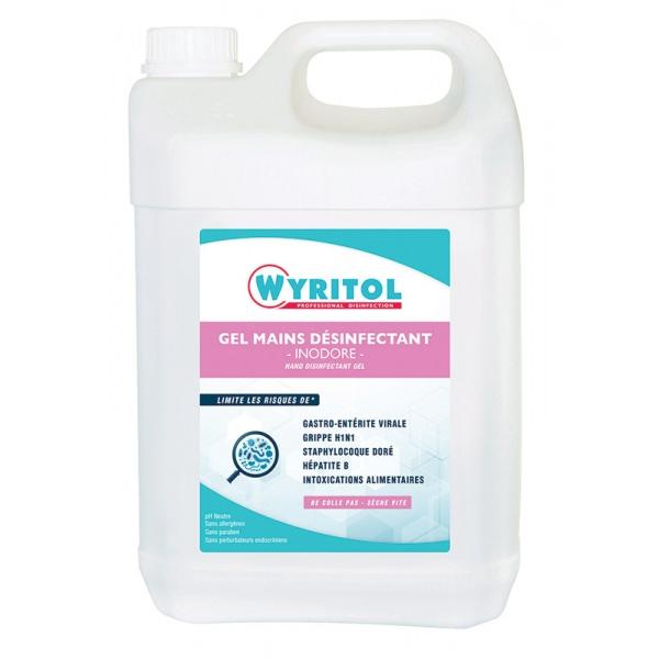 Lot de 4 bidon de gel hydroalcoolique 5 L