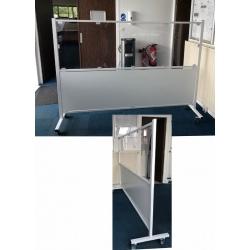 Cloison mobile de protection avec panneau bas L200 x H160 cm