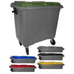 Bac roulant de collecte 100% recyclable 770 L corps gris