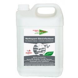 Lot de 2 bidons de 5 L nettoyant désinfectant sols et surfaces Ecocert Action Verte