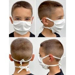 Lot de 100 masques en tissu avec lanière pour enfant