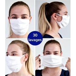 Lot de 100 masques en tissu avec élastique Catégorie 2