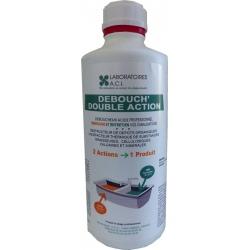 Lot de 6 flacons de déboucheur acide double action Debouch DA à diluer 1 kg