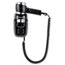 Lot de 6 sèche-cheveux muraux avec prise standard 16A Action Protect noir 1600 W