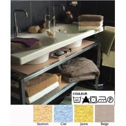 Lot de 24 draps de bain 70x140 cm 100% coton 380g liteau chevron