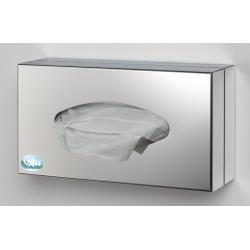 Support distributeur fermé en inox pour boite de gants ou mouchoirs