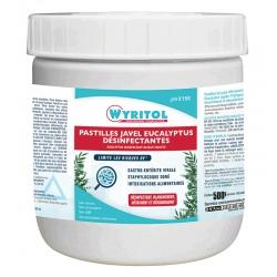 Lot de 12 boites de 150 pastilles Javel Wyritol parfum eucalyptus