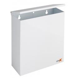 Poubelle murale en inox 304 blanc avec couvercle basculant 5L