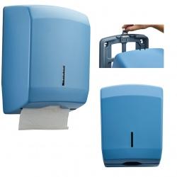 Distributeur d'essuie-main Design 400 feuilles inox bleu 5024