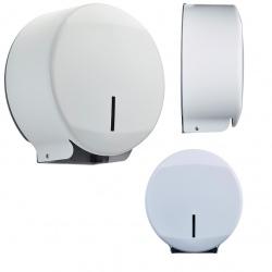 Distributeur papier hygiénique Design 200 m inox blanc 9016