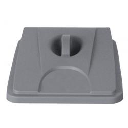 Lot de 6 couvercles gris pour collecteur tri selectif 60 L et 80 L
