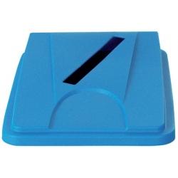 Lot de 6 couvercles bleus papier pour collecteur tri selectif 60 L et 80 L