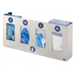 Distributeur inox gants 4 boites