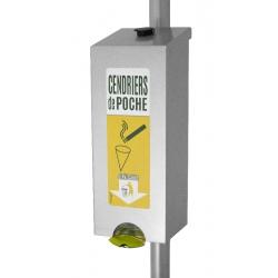 Distributeur de cendriers de poche en aluminium