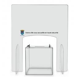 Hygiavote pour urne avec personnalisation sur une bande de 20 cm de hauteur