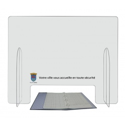 Hygiavote émargement avec personnalisation sur une bande de 20 cm de hauteur