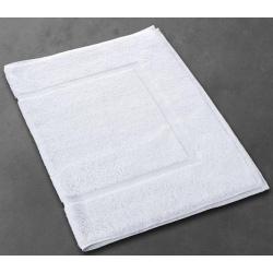 Tapis de bain Soft 100% coton blanc 730 g 50x75 cm (le lot de 10)