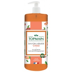 Lot de 12 Topmain savon liquide pêche 500 ml