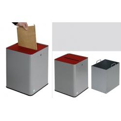 Collecteur de papier A4 RGPD argent et rouge