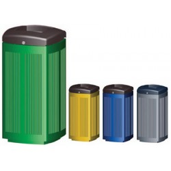 Corbeille Clain 100% recyclable cuve amovible 60L