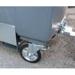 4 roues renforcées 200mm pour attelage conteneur