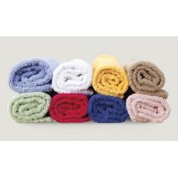 Lot de 24 draps de bain 100x150 cm coton blanc ou couleur 550 g