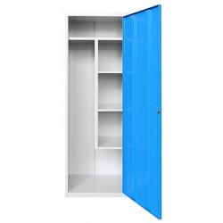 Armoire d'entretien 2 étagères réglables + 1 verticale L60xP49xH180 cm