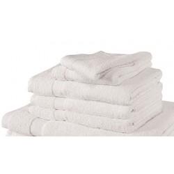 Serviette de toilette 50x100 cm coton blanc ou couleur 550 g