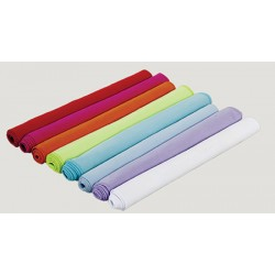 Lot de 50 serviettes microfibre 130x180 cm blanc ou couleur 210 g