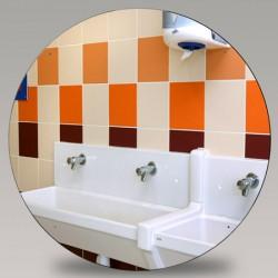 Miroir de sanitaire incassable Plexichok diametre 600 mm