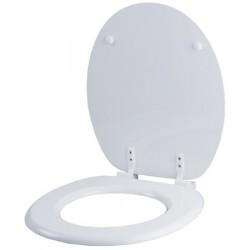Abattant wc en MDF blanc