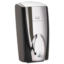 Distributeur de savon Rubbermaid automatique 1100 ml blanc chromé