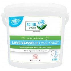 150 tablettes 18g lave vaisselle cycle court nordic Ecolabel Action Verte
