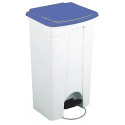 Collecteur JVD à pédale HACCP couvercle bleu 90 L