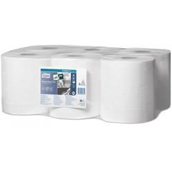 Carton de 6 bobines à dévidage central Tork Ecolabel m14 blanc 2p 450f 19,4 x 33,5 cm