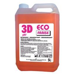 Détergent désinfectant désodorisant 3d eco fraise 5L